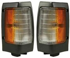 FOR 1990 - 1992 NS PICKUP FRONT SIDE MARKER LIGHT W/BLK RIGHT & LEFT PAIR SET