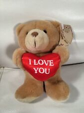Russ Luv Pet Valentines Bear Plush Stuffed Heart I Love You 6.5""