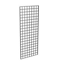 "Grid Panel, 24"" x 60"", 1/4"" dia wire, 3"" x 3"" squares, Black, Lot of 3"
