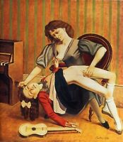 Balthus : The Guitar Lesson : 1934 : Archival Quality Art Print