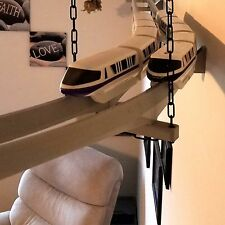 Double Track Trapeze Bracket for Hanging Dual Disney Monorail Track from Ceiling