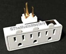 Swivel 3 Outlet Triple AC Wall Plug Power Tap Splitter 3-Way Electric Adapter