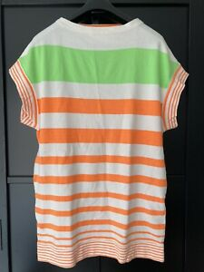 Tsumori Chisato Sweat Tunic-dress, Summer Stripes, Japanese Original, Size 10