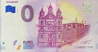 BILLET 0  EURO  KAUNAS LITTUANIE 2018  NUMERO 1000