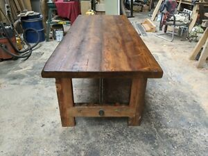 Industrial Reclaimed Pine Table Base Stand