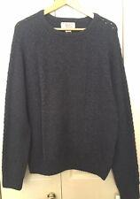 BNWT Original Penguin Navy Wool Crew Neck Sweater Jumper Size M RRP£120