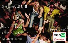 SCHEDA RICARICA VODAFONE CI SENTIAMO CARICHI 10 31-12-2006