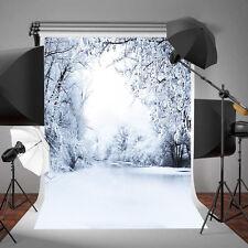 3x5ft Fondo de foto Nieve Fondos de pantalla para Fotostudio Tela de fondo Nuevo