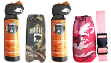 UDAP Bear Spray His & Hers 2 Pack With Green Camo and Pink Camo Hip Holsters