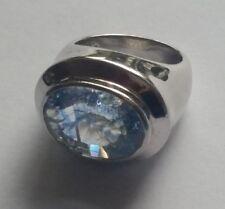 La Luna, Bergkristall, Ring, 925 Silber, Blau, gecrusht, Gr. 17 (54), HSE24