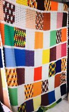 HANDMADE Crochet AFGHAN Knit THROW  GRANNY SQUARE Quilt 100x60 Bed COUCH Blanket