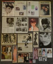 Lovely AUDREY HEPBURN Clippings Collection