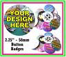 15 x 58mm PERSONALIZZATO bottone spilla DISTINTIVI WITH YOU PROPRI modello -