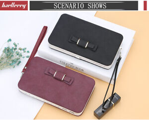 Women Bowknot wallet long Purse card phone holder clutch large pocket Aus stock