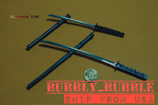 "1/6 Japanese Swords Samurai Katana Set For 12"" Hot Toys Figure SHIP FROM USA"