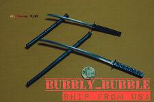 "1/6 Japanese Swords Samurai Katana Set For 12"" Hot Toys Figure SHIP FROM USA"