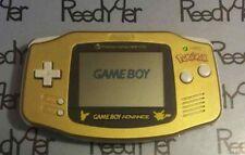 MINT Gold Pokemon Pikachu GameBoy Advance System New York Limited Nintendo GBA