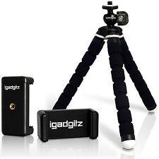 Piccolo Flessibile Cavalletto Mini Treppiede per Fotocamera + Cellulare Supporto