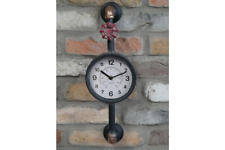 Steampunk Wall Clock Industrial Pipe Retro Rustic Metal Wall Mounted