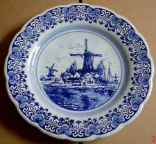 Shaped Delft Hanging Wall Plate Windmill Boats