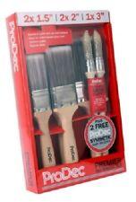 Prodec 5 Piece Paint Brush Set Professional Decorating Plus 2 Sash Brushes
