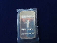 Heraeus Sealed New Silver Art Bar P1926