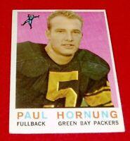 1959 FOOTBALL PAUL HORNUBG  TOPPS CARD #82  VG/EX