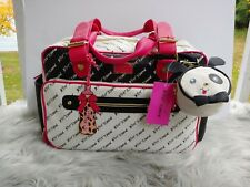 $158 Black BETSEY JOHNSON Baby Diaper Bag Tote Weekender Travel + Changing Pad