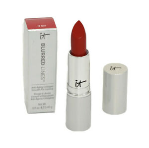 IT Cosmetics Blurred Lines Collagen Smooth-Fill Lipstick IT GIRL Red 0.11oz NEW