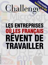 CHALLENGES n° 495 du 02/11/2016*Où les français rêvent 2 travailler*BUSINESS BIO