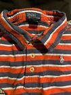 POLO RALPH LAUREN COLLARED RED WHITE NAVY BLUE COTTON PATRIOTIC L 16-18 JULY 4th
