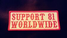 Red & White Support 81 WorldWide Patch Biker