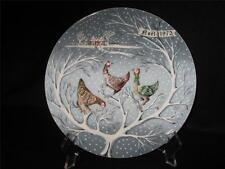 "Haviland Limoges 12 Days Of Christmas ""Three French Hens"" Collector Plate"