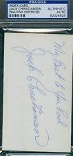 Jack Christiansen Autograph 3x5 Index Psa/dna Authentic Signed