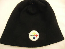 Reebok NFL Pittsburgh Steelers Logo Black Beanie Knit Cap Hat  Young Adult