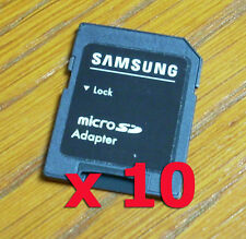 10-PACK Samsung adapter TF to SD , good for Tablet Galaxy NOTE