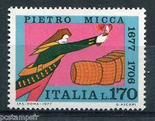 ITALIE 1977, timbre CELEBRITE, PIERRE MICCA, PIETRO MICCA, neuf**