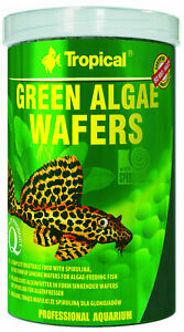 TROPICAL GREEN ALGAE WAFERS 250ml Sinking wafers with spirulina for algae eaters