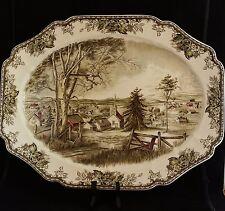 "Johnson Brothers Friendly Village huge 20 1/4"" Turkey serving Platter"