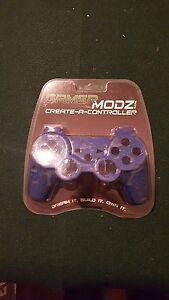 GamerModz Light Blue Marble Hydro-Dipped Custom Controller Shell for PS3 - NEW