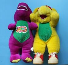 28cm Singing Friends Dinosaur Barney Doll And Vintage 1994 BJ USED PLUSH