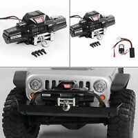 Metal 1/8 Motor Winch & Controller for Traxxas TRX-4 Axial SCX10 RC4WD D90 Car