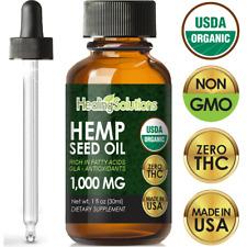 Premium Hemp Oil Extract for Pain Relief, Stress, Anxiety, Sleep, Keto - 1000mg