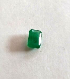 Loose Emerald 7 x 5 mm emerald Cut Natural Gemstone 1 ct Rectangle emerald Stone
