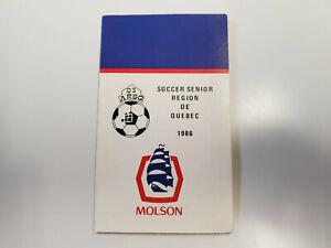 RS20 Soccer Senior Region de Quebec 1986 Pocket Schedule - Molson Export