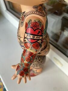Galoob Baby Face Doll Dee Dee 1991 Tattooed OOAK