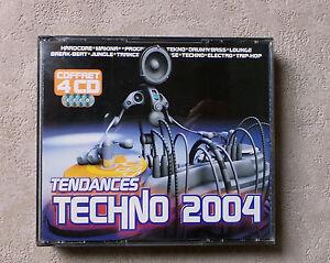 "CD AUDIO MUSIQUE INT / VARIOUS ""TENDANCE TECHNO 2004"" COFFRET 4XCD COMPILATIONS"