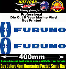 Furuno Stickers x2 400mm Decals Fishing Boat Fish Finder radar system Trailer.