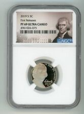 2019 S JEFFERSON NICKEL 5C NGC PF 69 ULTRA CAMEO FIRST RELEASES 4961026-075