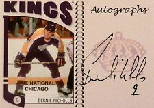 04-05 itg franchises national chicago bernie nicholls los kings autograph auto